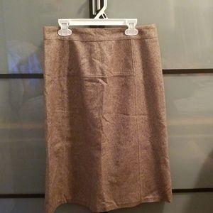 GAP pencil skirt, tan & brown, size 4
